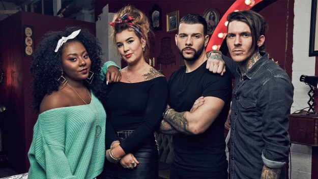 Tattoo fixers all 4 for Tv show with tattooed woman